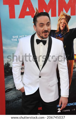 "LOS ANGELES, CA - JUNE 30, 2014: Actor/writer/director Ben Falcone at the premiere of his movie ""Tammy"" at the TCL Chinese Theatre, Hollywood.  - stock photo"