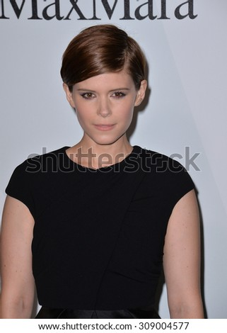 LOS ANGELES, CA - JUNE 16, 2015: Actress Kate Mara at the Women in Film 2015 Crystal + Lucy Awards at the Hyatt Regency Century Plaza Hotel.   - stock photo