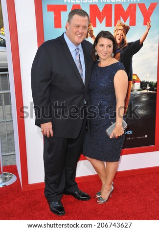 "LOS ANGELES, CA - JUNE 30, 2014: Billy Gardell & wife Patty Gardell at the premiere of ""Tammy"" at the TCL Chinese Theatre, Hollywood.  - stock photo"