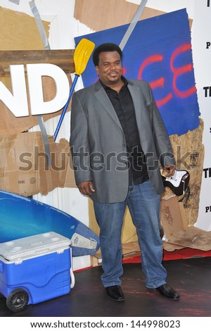 "LOS ANGELES, CA - JUNE 3, 2013: Craig Robinson at the world premiere of his movie ""This Is The End"" at the Regency Village Theatre, Westwood.  - stock photo"