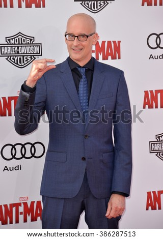 "LOS ANGELES, CA - JUNE 29, 2015: Director Peyton Reed at the world premiere of his movie ""Ant-Man"" at the Dolby Theatre, Hollywood. - stock photo"