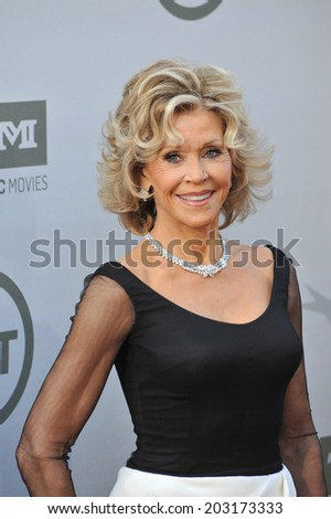 LOS ANGELES, CA - JUNE 5, 2014: Jane Fonda at the 2014 American Film Institute's Life Achievement Awards honoring Jane Fonda, at the Dolby Theatre, Hollywood.  - stock photo