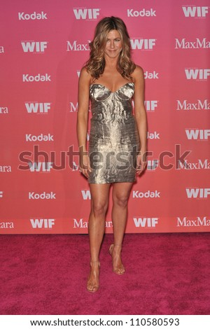LOS ANGELES, CA - JUNE 12, 2009: Jennifer Aniston at the Women in Film 2009 Crystal + Lucy Awards at the Hyatt Regency Century Plaza Hotel, Century City - stock photo