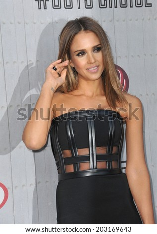 LOS ANGELES, CA - JUNE 7, 2014: Jessica Alba at Spike TV's 2014 Guys Choice Awards at Sony Studios, Culver City.  - stock photo