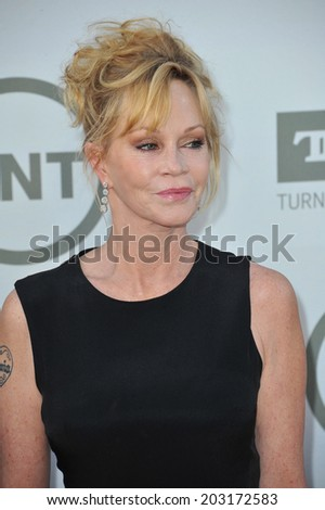 LOS ANGELES, CA - JUNE 5, 2014: Melanie Griffith at the 2014 American Film Institute's Life Achievement Awards honoring Jane Fonda, at the Dolby Theatre, Hollywood.  - stock photo