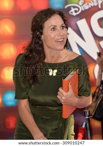 "LOS ANGELES, CA - JUNE 9, 2015: Minnie Driver at the Los Angeles premiere of Disney-Pixar's ""Inside Out"" at the El Capitan Theatre, Hollywood.  - stock photo"