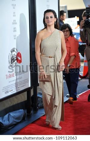 "LOS ANGELES, CA - JUNE 15, 2012: Penelope Cruz at the LA Film Festival premiere of her movie ""To Rome With Love"" at the Regal Cinemas LA Live. - stock photo"