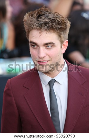 LOS ANGELES, CA. - JUNE 24: Robert Pattinson attends The Twilight Saga Eclipse  Los Angeles premiere on June 24th, 2010 at The Nokia Theater in Los Angeles, Ca. - stock photo