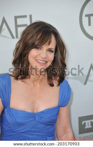 LOS ANGELES, CA - JUNE 5, 2014: Sally Field at the 2014 American Film Institute's Life Achievement Awards honoring Jane Fonda, at the Dolby Theatre, Hollywood.  - stock photo