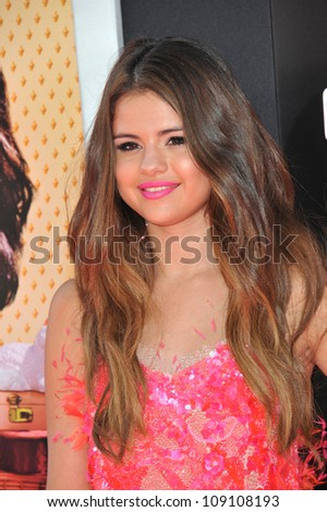 "LOS ANGELES, CA - JUNE 27, 2012: Selena Gomez at the Los Angeles premiere of ""Katy Perry: Part of Me"" at Grauman's Chinese Theatre, Hollywood. - stock photo"