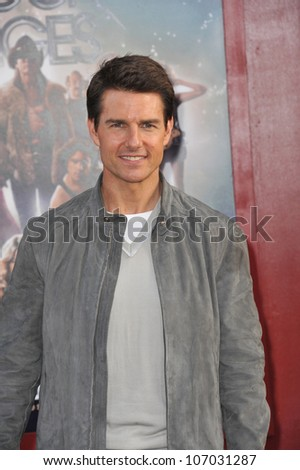 """LOS ANGELES, CA - JUNE 9, 2012: Tom Cruise at the world premiere of his new movie """"Rock of Ages"""" at Grauman's Chinese Theatre, Hollywood. June 9, 2012  Los Angeles, CA - stock photo"""