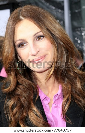 LOS ANGELES, CA - MAR 17: Julia Roberts at Relativity Media's 'Mirror Mirror' premiere at Grauman's Chinese Theater on March 17, 2012 in Los Angeles, California - stock photo