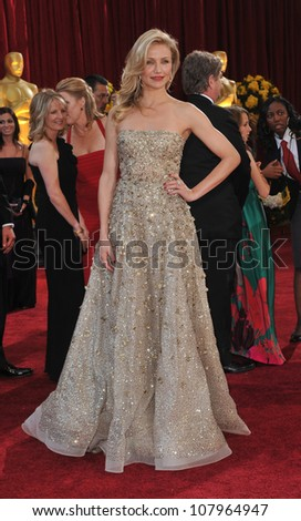 LOS ANGELES, CA - MARCH 7, 2010: Cameron Diaz at the 82nd Annual Academy Awards at the Kodak Theatre, Hollywood. - stock photo