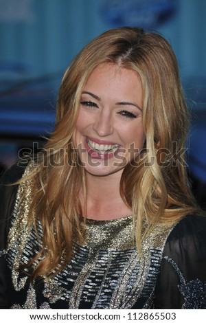 LOS ANGELES, CA - MARCH 5, 2009: Cat Deeley at the American Idol Final 13 Party at Area Nightclub, West Hollywood. - stock photo