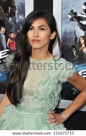 """LOS ANGELES, CA - MARCH 28, 2013: Elodie Yung at the Los Angeles premiere of her movie """"G.I. Joe: Retaliation"""" at the Chinese Theatre, Hollywood. - stock photo"""