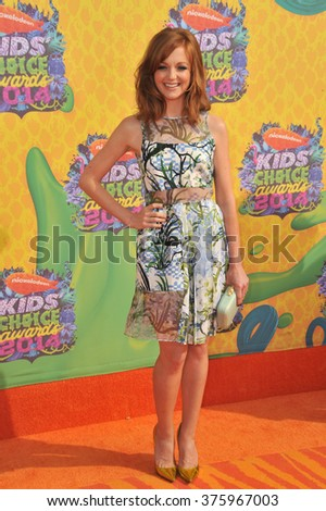 LOS ANGELES, CA - MARCH 29, 2014: Jayma Mays at Nickelodeon's 27th Annual Kids' Choice Awards at the Galen Centre, Los Angeles.  - stock photo