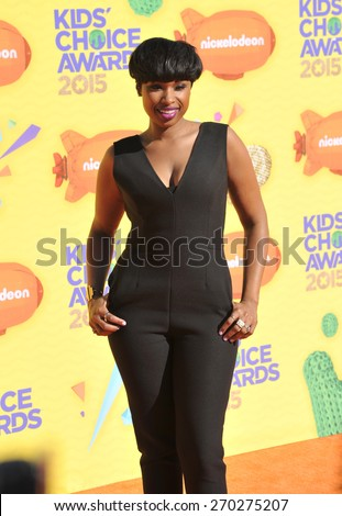 LOS ANGELES, CA - MARCH 28, 2015: Jennifer Hudson at the 2015 Kids Choice Awards at The Forum, Los Angeles.  - stock photo