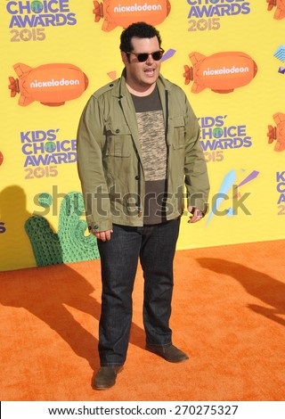 LOS ANGELES, CA - MARCH 28, 2015: Josh Gad at the 2015 Kids Choice Awards at The Forum, Los Angeles.  - stock photo