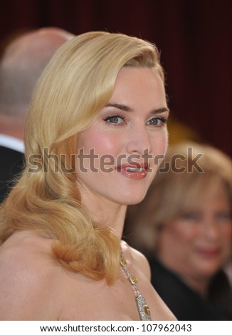 LOS ANGELES, CA - MARCH 7, 2010: Kate Winslet at the 82nd Annual Academy Awards at the Kodak Theatre, Hollywood. - stock photo