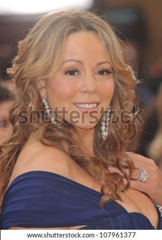 LOS ANGELES, CA - MARCH 7, 2010: Mariah Carey at the 82nd Annual Academy Awards at the Kodak Theatre, Hollywood. - stock photo
