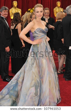 LOS ANGELES, CA - MARCH 7, 2010: Rachel McAdams at the 82nd Annual Academy Awards at the Kodak Theatre, Hollywood. - stock photo