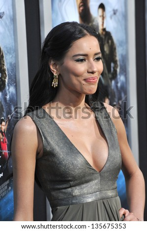 """LOS ANGELES, CA - MARCH 28, 2013: Rebecca Da Costa at the Los Angeles premiere of """"G.I. Joe: Retaliation"""" at the Chinese Theatre, Hollywood. - stock photo"""
