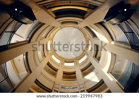Los Angeles, CA - MAY 18: Hollywood Dolby Theatre interior on May 18, 2014 in Los Angeles. Started as a small community, it evolved into the home of world famous film industry - stock photo