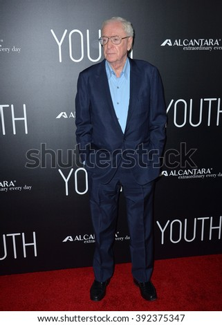 """LOS ANGELES, CA - NOVEMBER 17, 2015: Actor Michael Caine at the Los Angeles premiere of his movie """"Youth"""" at the Directors Guild of America - stock photo"""