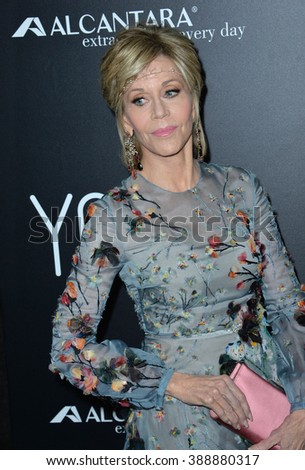 """LOS ANGELES, CA - NOVEMBER 17, 2015: Actress Jane Fonda at the Los Angeles premiere of her movie """"Youth"""" at the Directors Guild of America.  - stock photo"""