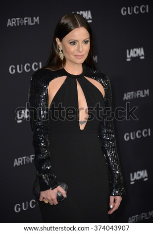 LOS ANGELES, CA - NOVEMBER 7, 2015: Actress Sophia Amoruso at the 2015 LACMA Art+Film Gala at the Los Angeles County Museum of Art.
