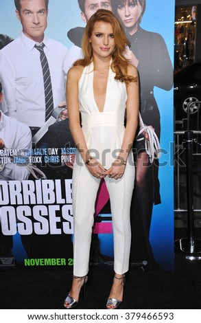 "LOS ANGELES, CA - NOVEMBER 20, 2014: Bella Thorne at the Los Angeles premiere of ""Horrible Bosses 2"" at the TCL Chinese Theatre, Hollywood. - stock photo"