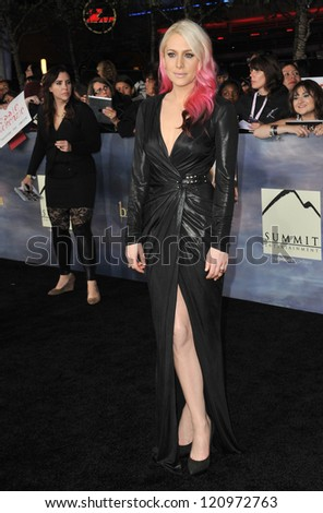 """LOS ANGELES, CA - NOVEMBER 12, 2012: Casey LaBow at the world premiere of her movie """"The Twilight Saga: Breaking Dawn - Part 2"""" at the Nokia Theatre LA Live. - stock photo"""