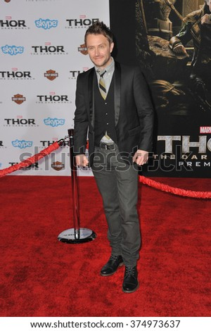 "LOS ANGELES, CA - NOVEMBER 4, 2013: Chris Hardwick at the US premiere of ""Thor: The Dark World"" at the El Capitan Theatre, Hollywood. Picture: Paul Smith / Featureflash - stock photo"