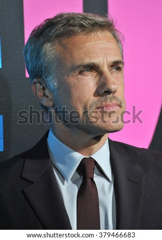 """LOS ANGELES, CA - NOVEMBER 20, 2014: Christoph Waltz at the Los Angeles premiere of his movie """"Horrible Bosses 2"""" at the TCL Chinese Theatre, Hollywood. - stock photo"""