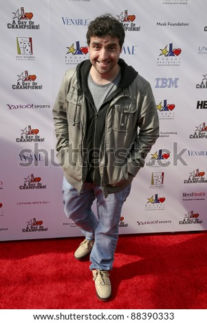 LOS ANGELES, CA - NOVEMBER 06: David Krumholtz arrives at A Day Of Champions Benefiting the Bogart Pediatric Cancer Research Program at Sports Museum of Los Angeles on November 6, 2011. - stock photo