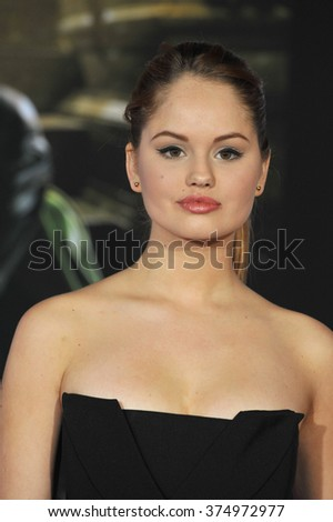 "LOS ANGELES, CA - NOVEMBER 4, 2013: Debby Ryan at the US premiere of ""Thor: The Dark World"" at the El Capitan Theatre, Hollywood. Picture: Paul Smith / Featureflash - stock photo"