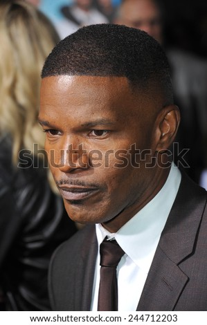 """LOS ANGELES, CA - NOVEMBER 4, 2014: Jamie Foxx at the Los Angeles premiere of his movie """"Horrible Bosses 2"""" at the TCL Chinese Theatre, Hollywood.  - stock photo"""
