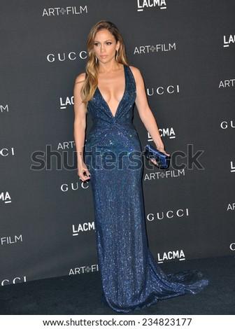 LOS ANGELES, CA - NOVEMBER 1, 2014: Jennifer Lopez at the 2014 LACMA Art+Film Gala at the Los Angeles County Museum of Art.  - stock photo