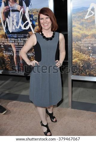 """LOS ANGELES, CA - NOVEMBER 19, 2014: Kate Flannery at the Los Angeles premiere of  """"Wild"""" at the Samuel Goldwyn Theatre, Beverly Hills. - stock photo"""