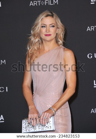 LOS ANGELES, CA - NOVEMBER 1, 2014: Kate Hudson at the 2014 LACMA Art+Film Gala at the Los Angeles County Museum of Art.  - stock photo