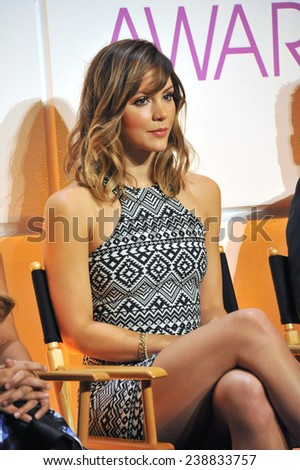 LOS ANGELES, CA - NOVEMBER 4, 2014: Katharine McPhee at the nominations announcement for the 2015 People's Choice Awards at the Paley Center for Media, Beverly Hils.  - stock photo