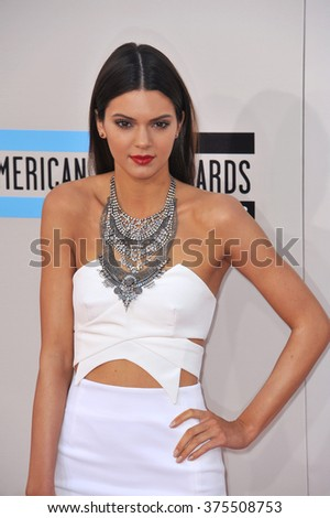 LOS ANGELES, CA - NOVEMBER 24, 2013: Kendall Jenner at the 2013 American Music Awards at the Nokia Theatre, LA Live.  - stock photo