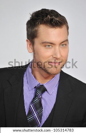 LOS ANGELES, CA - NOVEMBER 20, 2011: Lance Bass arriving at the 2011 American Music Awards at the Nokia Theatre, L.A. Live in downtown Los Angeles. November 20, 2011  Los Angeles, CA - stock photo