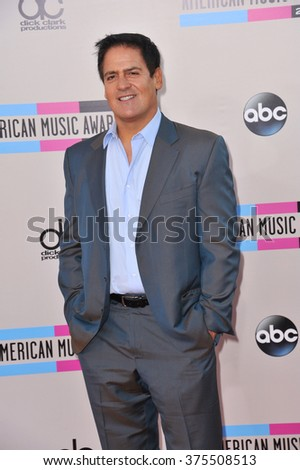 LOS ANGELES, CA - NOVEMBER 24, 2013: Mark Cuban at the 2013 American Music Awards at the Nokia Theatre, LA Live.  - stock photo