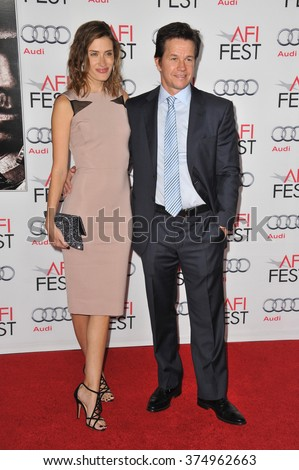 """LOS ANGELES, CA - NOVEMBER 12, 2013: Mark Wahlberg & wife Rhea Durham at the world premiere of his movie """"Lone Survivor"""" at the TCL Chinese Theatre, Hollywood. Picture: Paul Smith / Featureflash - stock photo"""