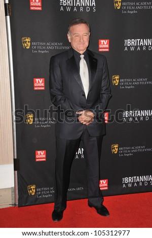LOS ANGELES, CA - NOVEMBER 30, 2011: Robin Williams at the 2011 BAFTA/LA Britannia Awards at the Beverly Hilton Hotel. November 30, 2011  Beverly Hills, CA - stock photo