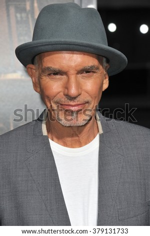"""LOS ANGELES, CA - OCTOBER 1, 2014: Billy Bob Thornton at the Los Angeles premiere of his movie """"The Judge"""" at the Samuel Goldwyn Theatre, Beverly Hills. - stock photo"""