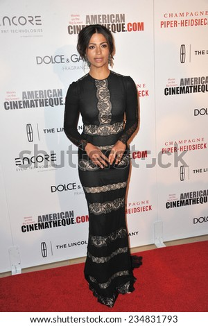 LOS ANGELES, CA - OCTOBER 21, 2014: Camila Alves at the 28th Annual American Cinematheque Award Gala honoring Matthew McConaughey at the Beverly Hilton Hotel.  - stock photo