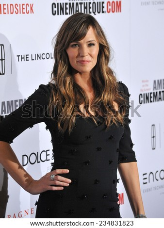 LOS ANGELES, CA - OCTOBER 21, 2014: Jennifer Garner at the 28th Annual American Cinematheque Award Gala honoring Matthew McConaughey at the Beverly Hilton Hotel.  - stock photo