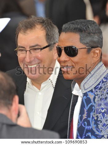 "LOS ANGELES, CA - OCTOBER 27, 2009: Jermaine Jackson & director/producer Kenny Ortega (left) at the premiere of Michael Jackson's ""This Is It"" at the Nokia Theatre, L.A. Live. - stock photo"